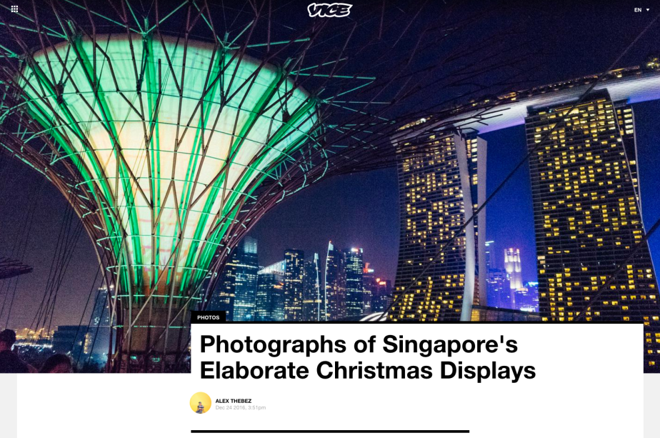 Work: Vice – Singapore's Christmas Displays