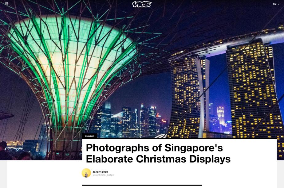Work: Vice – Singapore's ChristmasDisplays