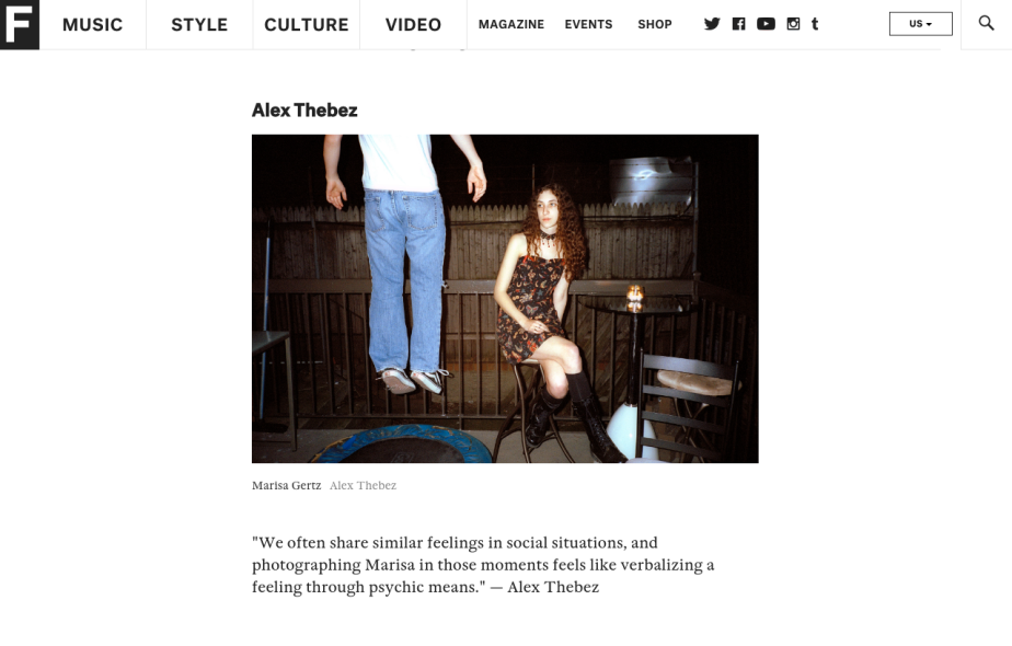 """Work: """"In A Fake World, Pictures Of Friends Feel The Most Real"""" on TheFADER"""